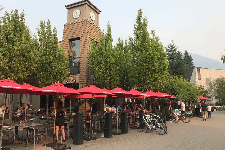 Brewhouse Patio in Whistler, BC