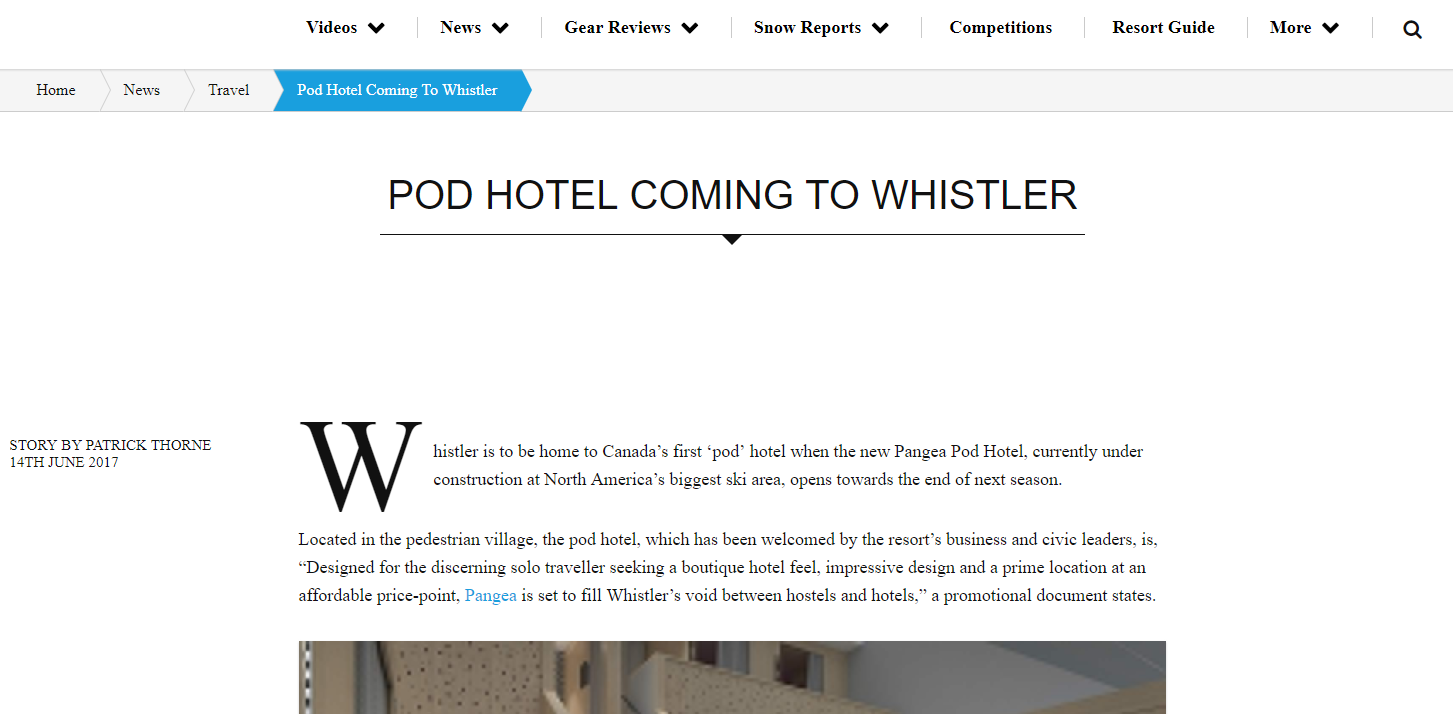 Press Archives Page 8 Of 9 Pangea Pod Hotel Plan B Electrical Whistler Inthesnow Coming To