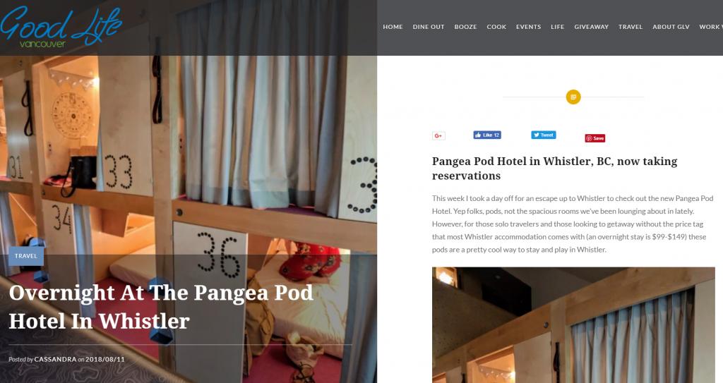 Pangea Press | Pangea Pod Hotel